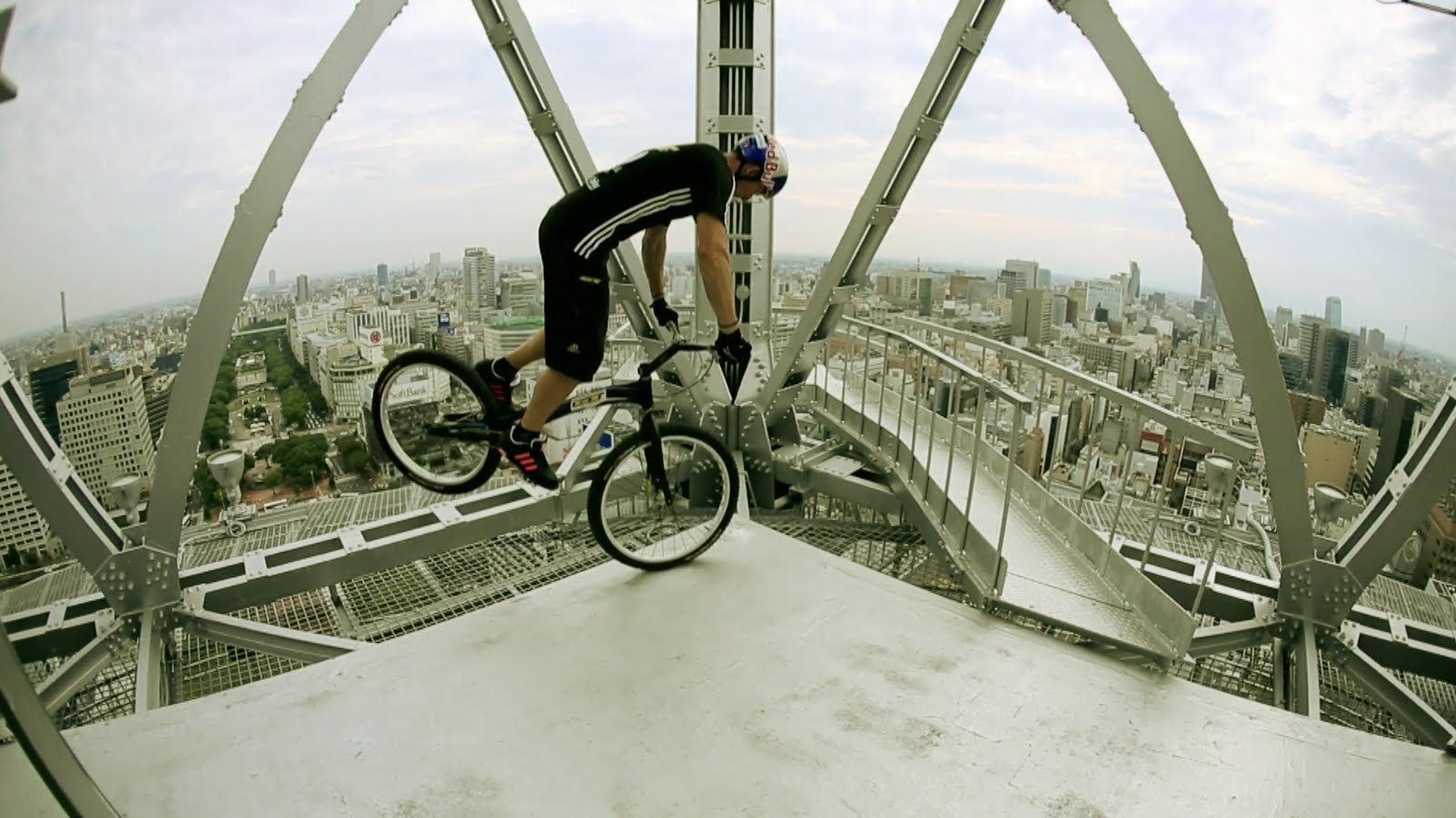 Kenny on top of Nagoya TV tower in Japan at 180m